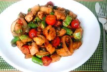 frango com legumes paprica e limaõ