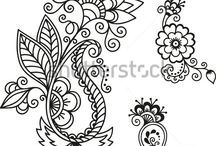 Cookie Decorating Henna Templates