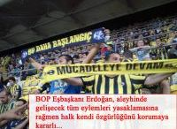 Fenerbahçe pankart yasağını deldi!