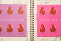 Hen Party Essentials / A collection of Hen Party Essentials - from the initial Hen Party Invitation to the Thank You Cards to your lovely hens. All original designs from Heart Kiss Hug...