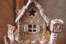 мои пряничные домики  и другие пряничные домики и техника росписи, рецепты пряничного теста