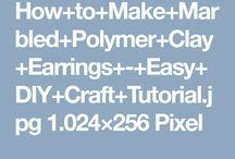 Clay ohrringe