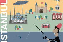 Istanbul Travel Prints
