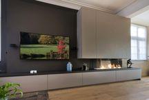 Muebles elegantes para tv colgante