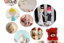 Sewing and knitting toys and dolls