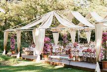 Home garden wedding