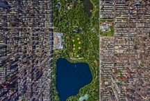 LOOKING DOWN. Aerial photography. / A fascinating birds-eye view of the world. / by Ollie W
