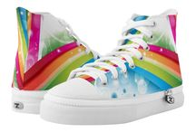 Shoe Fashion / Colorfu, Rainbow, Multicolored, Bright, Light, Pastel, Pretty, Awesome Shoes!