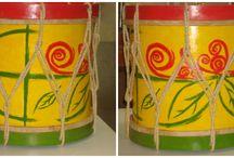 Instrumentos Musicais / Instrumentos musicais artesanais e personalizados, confeccionados pelo Ateliê Giramundo. Para ter o seu acesse: www.ateliegiramundo.com