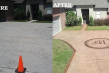 Before and After / Before and After pictures of concrete patios, pool areas, sidewalk, walkways, driveways and more.