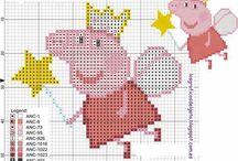 Haft krzyżykowy Świnka Peppa / Cross stitch - Peppa Pig