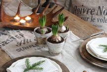 Christmas table settings - Juldukningar