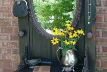 Speglar glas dörrar