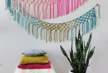 Macrame Quilt Banner Wall Art / All things Banners. Quilted Banners, Macrame, Weaving etc