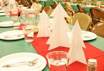ward christmas party centerpieces
