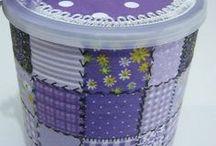 latas e frasco decorados