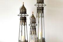Lámparas, portavelas, velas, faroles, luminarias
