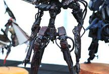 sci fi sculpture cyberpunk diorama