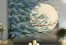 Canvas moon