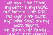 Cheer bows and active things