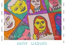 Famous Artist - Andy Warhol / Art projects based on Warhol's work.