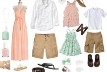 Outfit Ideas-Summer / These are color schemes/outfit ideas for portrait sessions.