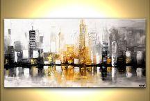 Peinture - Ville urbaine
