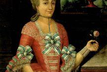 Mujeres vestidas en Latinoamérica, s. XVIII