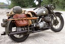 Military Motorcycle WWII