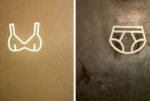 toilet signs for her and him
