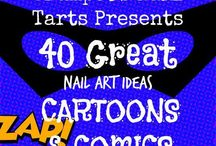 Crumpet Nail Tarts Presents - Cartoons and Comics / Crumpet Nail Tarts Presents 40 Great Nail Art Ideas #40gnai