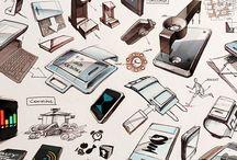 Produkt design sketches