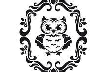black & white illus - animals