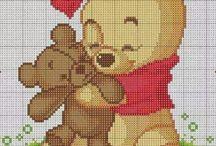 schemi punto croce Winnie pooh