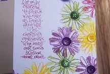 Cards - Petal Prints / A retired oldie but goodie