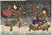 Snow Scenes in Japanese Prints. / Snow scenes in Japanese prints. Ukiyo-e by Hokusai, Utamaro, Hiroshige etc