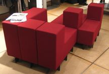 Retail / This board showcases Cellular™ modular furniture installed in retail environments.
