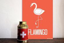 panda's & flamingo's