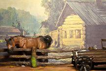 Model Horse (Breyer, Schleich, other): Village / Довольно интересные снимки получаются на деревенские мотивы, поэтому решила таки вынести их отдельно