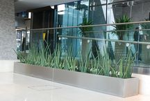 Stainless Steel Trough Planter | Our Work / Beautifully finished Stainless Steel Trough Planters for the entrance foyer of the iconic 33 storey Centrepoint building in Central London