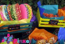 Mesa de dulces muy mexicana