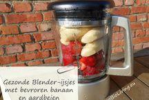 Suikervrij ijs van fruit