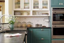 Kitchen Cabinet style & colors / by Dutchman Fountains
