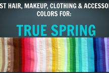 True Spring Seasonal Colour Palette - Colour Analysis / Color Analysis / A few pics of outfits and hair colours in the True Spring seasonal colour palette. Notes: - for outfit pictures, please ignore hair colours as these have not been assessed for optimal hair colour alignment with palette. - for hair colour pictures, please ignore outfit colours and skin colouring of models as these have not been assessed for alignment in palette.