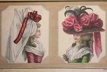 Cabinet des modes / Fashion News Cabinet des Modes 1785-1786 Magasin des Modes Nouvelles Francaises et Anglaises 1786-1789 Journal de La mode et du Gout 1790-1793 ( published by Le Brun Tossa A.B. Duhamel ) hand color engraving Paris France