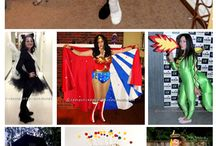 Halloween Costume Ideas / Some GREAT ideas for what costumes to make and how to do it for some. Creativity, a little glue, and a really good Goodwill shopping trip can make these happen!