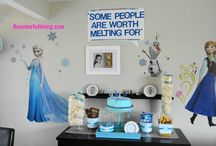 Frozen Birthday Party / Frozen birthday ideas, kids birthday, table setting for kids party