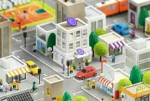 3Д город