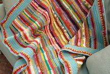 strikke pledd