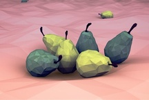 Low Poly Fruits / Low poly fruits. Enjoy!
